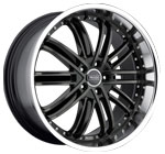 Prado Wheels Paladine 902 Black Tint Machined Face