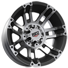 KO Offroad<br /> 990 Crusher Black Machined<br /> 5 Lug