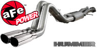 AFE Stainless Steel Exhausts <br> Hummer