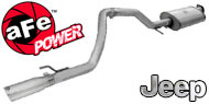 AFE Stainless Steel Exhausts <br> Jeep