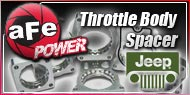 AFE Throttle Body Spacers Jeep