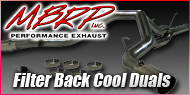 Dodge Cummins Diesel <br>Filter Back Cool Duals <br>MBRP Performance Exhaust