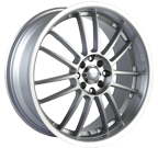 Akita Racing Wheels AK-25 425 Hyper Silver Machined Lip