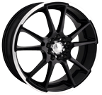 Akita Racing Wheels AK-35 435 Black Machined Lip