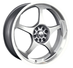 Akita Racing Wheels AK-90 490 Hyper Silver Machined Lip
