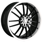 Akita Racing Wheels Ak-25 425 Black Machined Face