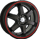 Akita Racing Wheels AK-55 455 Black with Red Ring
