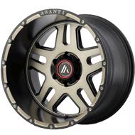 Asanti Offroad AB809 Matte Black Machined w/ Tinted Clear