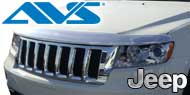 Auto Ventshade <br>Chrome Hood Shield for 2005-2010 Grand Cherokee