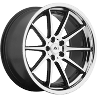 Adventus AVS-4 Gloss Black Machined Wheels w/ SS Lip