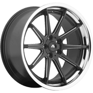 Adventus AVS-4 Satin Black Milled Wheels W/ SS Lip