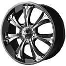 Baccarat Wheels <br/>Mirage 1120B Black
