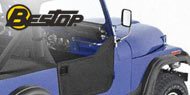 Bestop Jeep Soft Lower Half Doors for 1980-1995 Jeep Wrangler YJ, CJ7 & CJ8 Scrambler