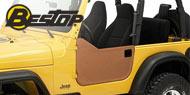 Bestop Jeep Soft Lower Half Doors for 1997-2006 Jeep Wrangler & Wrangler Unlimited