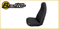 Bestop Jeep Front Seat Covers High Back Buckets <br>1980-1983 CJ-5, 1976-1986 CJ-7 <br>1986-1991 Jeep Wrangler