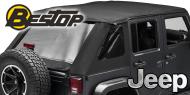 Bestop Twill Trektop NX Soft Tops <br>07-15 Jeep JK - 4 Door