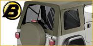 Bestop Tinted Window Kits for Jeeps with Supertop