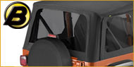 Bestop Jeep Tinted Window Kits for Jeeps with Sunrider