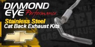 Diamond Eye Stainless Steel <br />Cat Back Exhaust Kits <br />Chevy