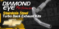 Diamond Eye Stainless Steel <br />Turbo Back Exhaust Kits <br />Chevy