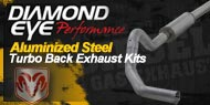 Diamond Eye Aluminized <br />Turbo Back Exhaust Kits <br />Dodge