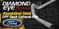 Diamond Eye Aluminized <br />Steel DPF Back Exhaust <br />Ford