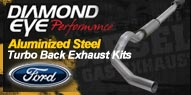 Diamond Eye Aluminized Steel <br />Turbo Back Exhaust <br />Ford