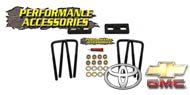 Performance Accessories<br /> Rear Block Kit<br /> Chevy/GMC and Toyota