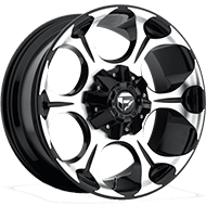 Fuel D524 Dune Machined Black Wheels