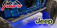 Fab Fours </br> Jeep JK Rock Sliders 2007-2017 JK Wrangler