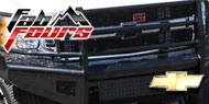 Fab Fours Black Steel Bumpers for Chevy