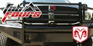 Fab Fours Black Steel Bumpers for Dodge
