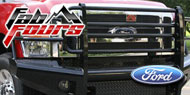 Fab Fours Black Steel Bumpers for Ford