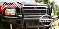 Fab Fours Black Steel Bumpers for Nissan