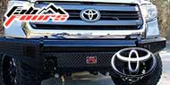 Fab Fours Black Steel Bumpers for Toyota