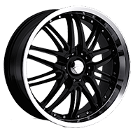 Platinum Wheels<br /> 200 Apex Gloss Black with<br /> Diamond Cut and Clear Coat