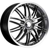 Platinum Wheels<br /> 200 Apex Hyper-Black with<br /> Diamond Cut and Clear Coat