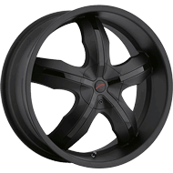 Platinum Wheels<br /> 212 Widow Matte Black with<br /> Gloss Black Insert