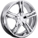 Platinum Wheels<br /> 291-292 Saber Chrome
