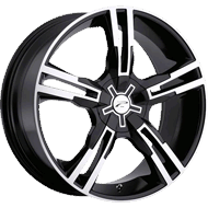 Platinum  Wheels<br /> 291-292 Saber Gloss Black with<br /> Diamond Cut & Clear Coat
