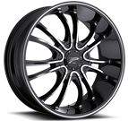 Platinum Wheels<br /> 406 America Black with Diamond Cut