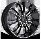 Platinum Wheels<br /> 406 America Black with Diamond Cut