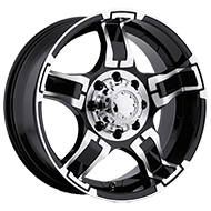 Ultra Wheels<br /> 193-194 Drifter Gloss Black with Diamond Cut