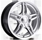 Platinum Wheels<br /> 269 Fury Silver