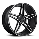 Foose Wheels<br /> F164 VOSS Black Machined