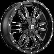 Fuel Wheels<br /> D595 Sledge Gloss Black Milled