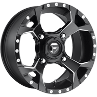 Fuel Wheels<br /> D546 Assault Matte Black Milled