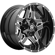 Fuel Wheels <br /> D254 Black & Milled Finish
