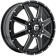 Fuel Maverick D262 Dually Front in Black and Milled Wheels