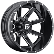 Fuel Wheels <br /> D262 - Dually Rear - Maverick Black and Milled
